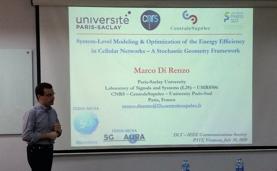 """Seminar khoa học """"System-Level Modeling and Optimization of the Energy Efficiency in Cellular Networks – A Stochastic Geometry Framework"""" với Giáo Sư Marco Di Renzo"""