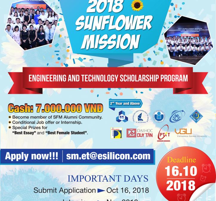 Thông báo Chương trình Học Bổng SFM 2018 đến Sinh viên từ eSilicon