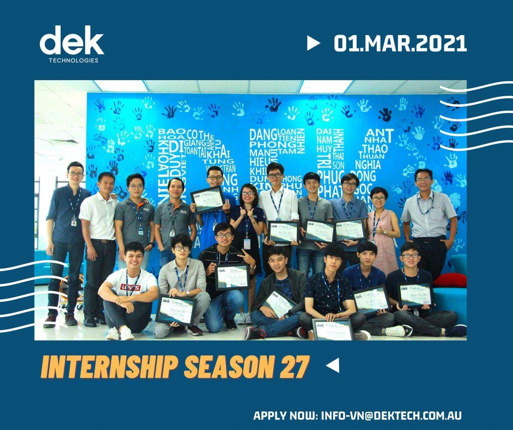 [Công ty DEK Technologies Vietnam đang tuyển dụng các vị trí IT Fresher và Intern]